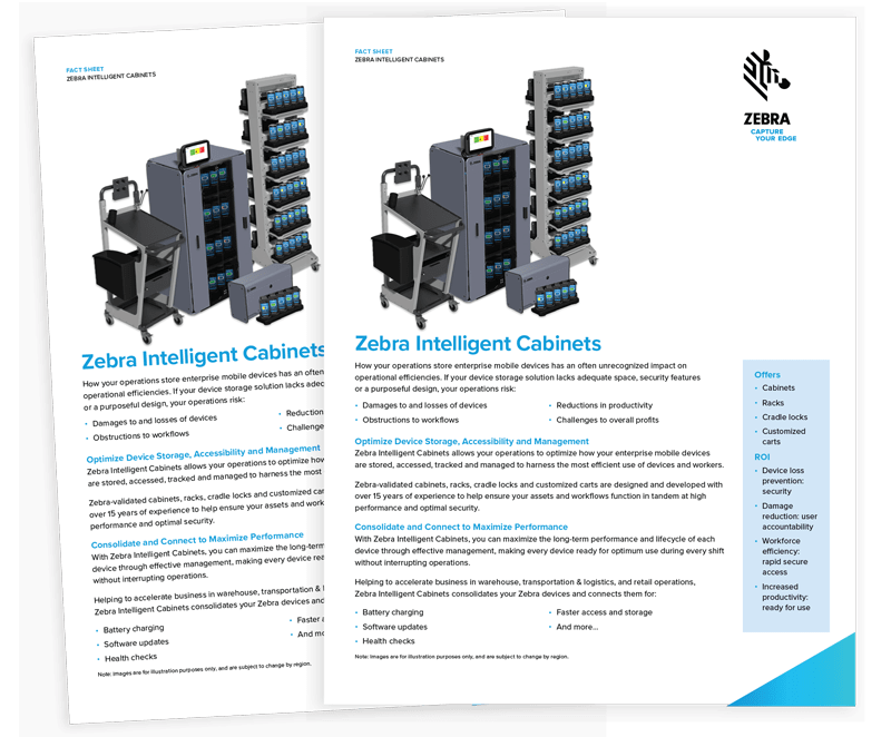 Zebra Intelligent Cabinets Solutions Brief